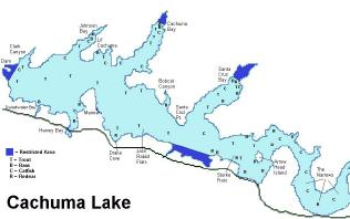 Lake cachuma res info and map for Lake cachuma fishing report